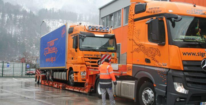 Sigr Bizjak izredni prevoz tovornjak