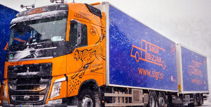 Sigr Bizjak zasneženo tovorno vozilo