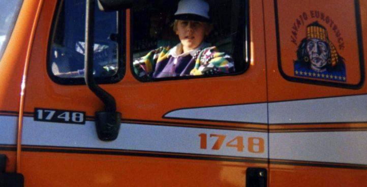 Sin v tovornjaku